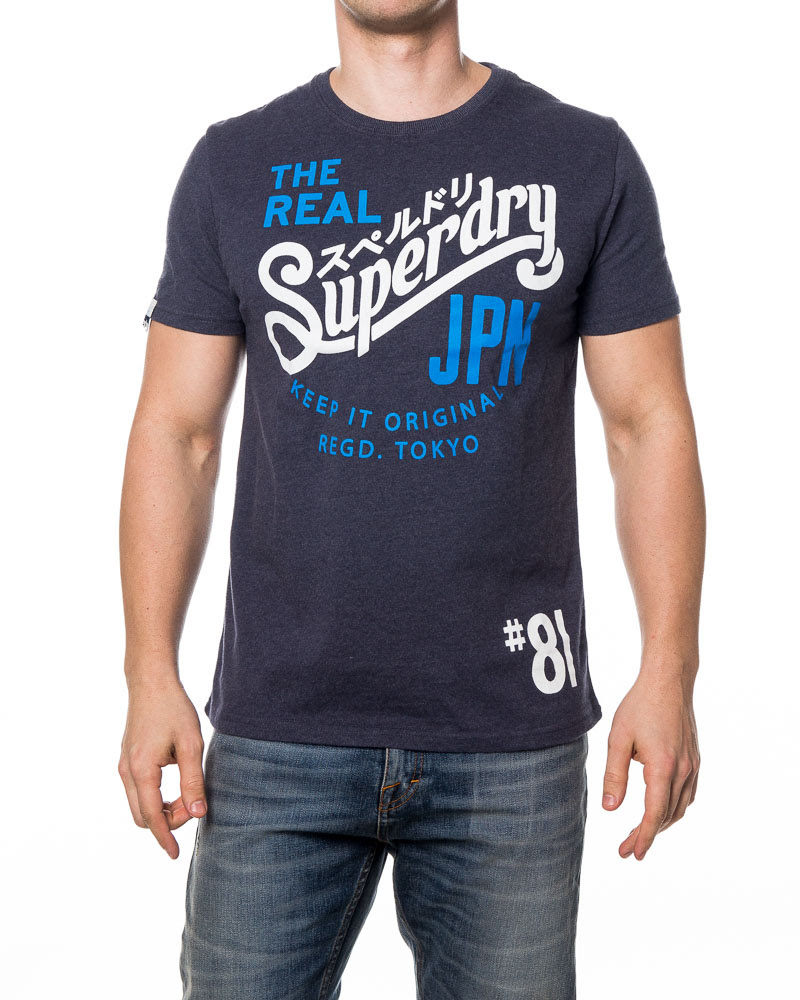 SUPERDRY miesten t-paita (nyt 19,95€, norm. 39,90€)