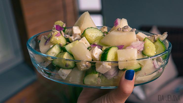 hunajameloni salaatti