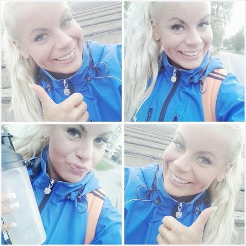 Hitokseen hyvä treeni ja parhain mieli! Endorfiinit, I love you!