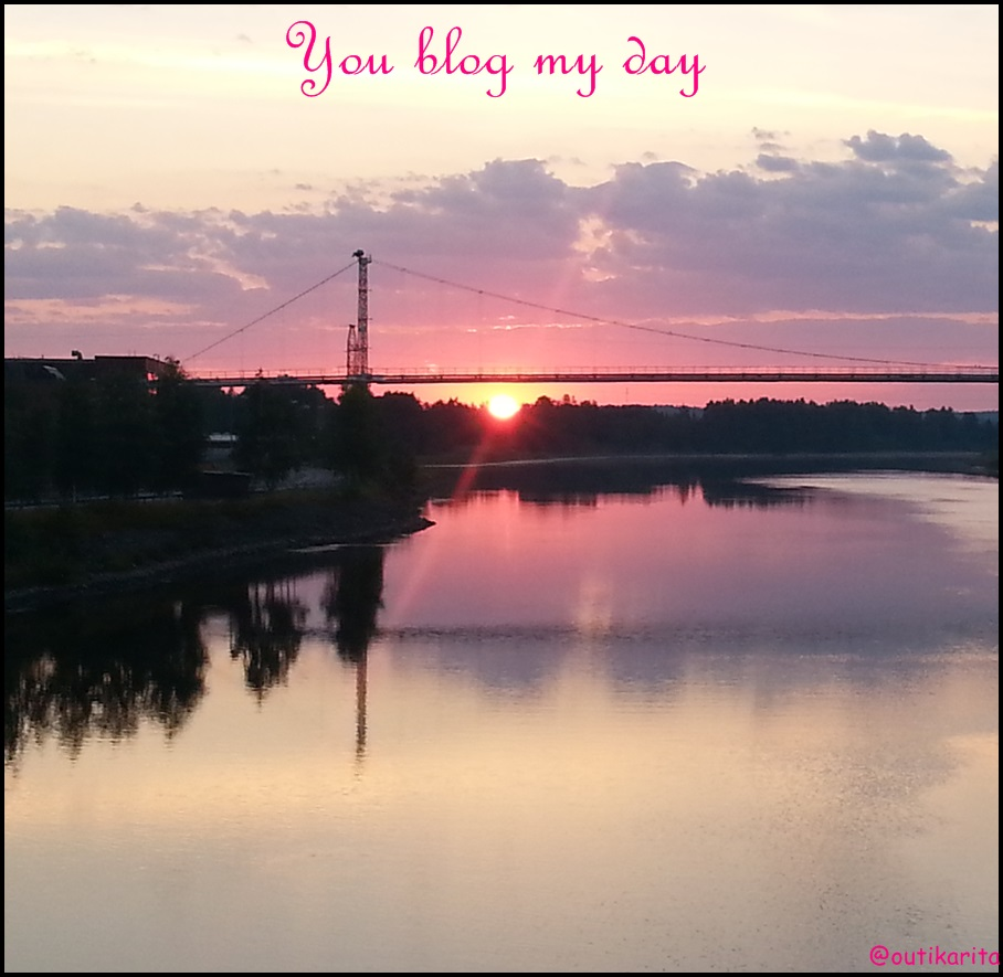 You blog my day