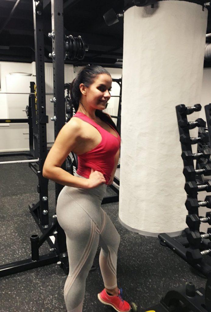 bikini fitness treeni