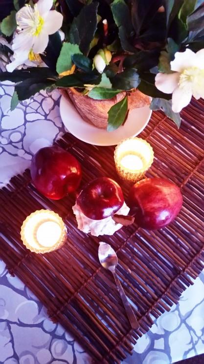 Piparirahkalla täytetyt jouluomenat (gluteeniton, ilman valkoista sokeria)