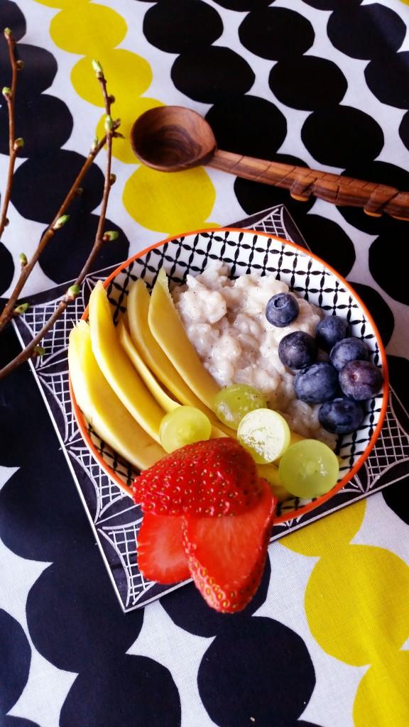 Mango sticky rice (vegaani) ja lazy sunday