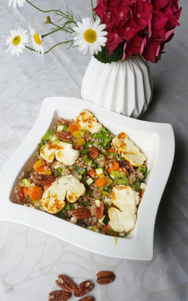 Ruokaisa salaatti, spelt helmisuurimoista