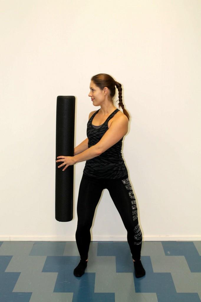 Keskivartalon harjoituksia foam rollerilla