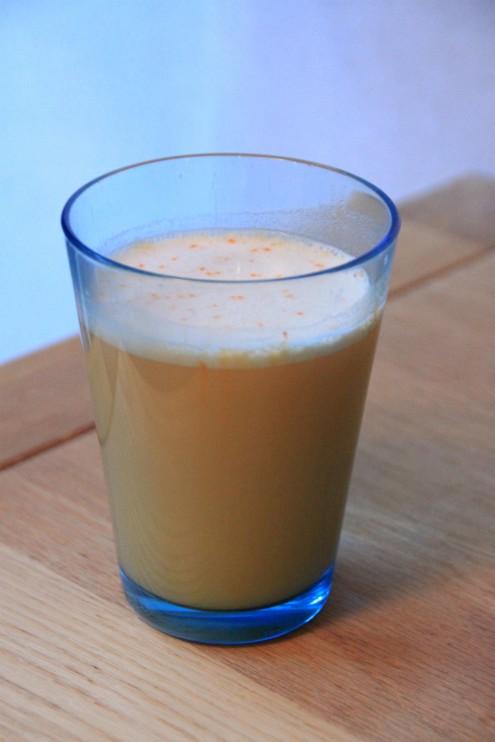 Eilen nautiskelin välipalaksi mangon makuista Bodylabin heraproteiinia, nam!