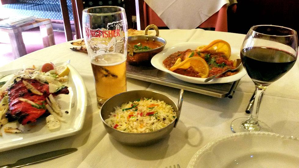 Tandoori Havenin ruoka oli hyvää, mutta ei vetänyt vertoja Jyväskylän omalle Shalimarille!