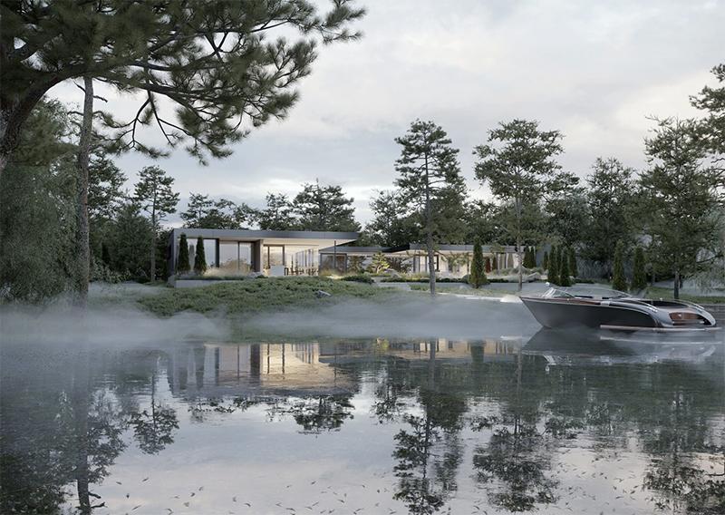 Villa Bosund – sisustussuunnittelua 3D-kuviin