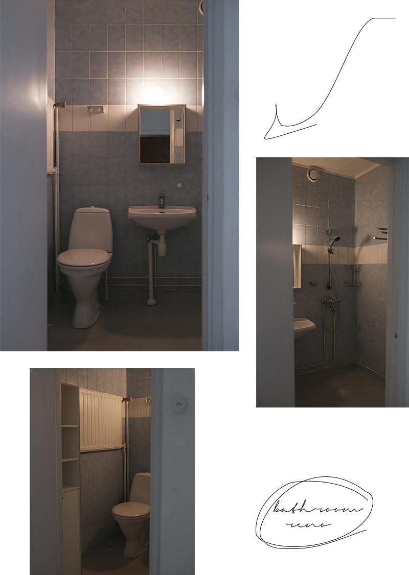 Tapaus kylpyhuone – lähtötilanne ja remonttisuunnitelmat