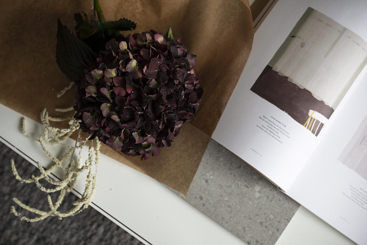 Ihaninta juuri nyt: tumma hortensia