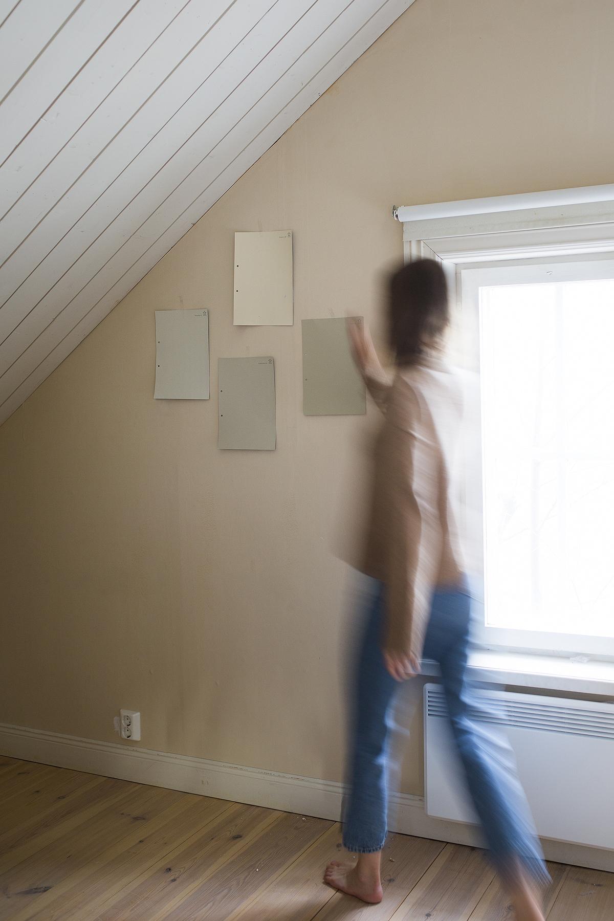 makuuhuoneen maalaus