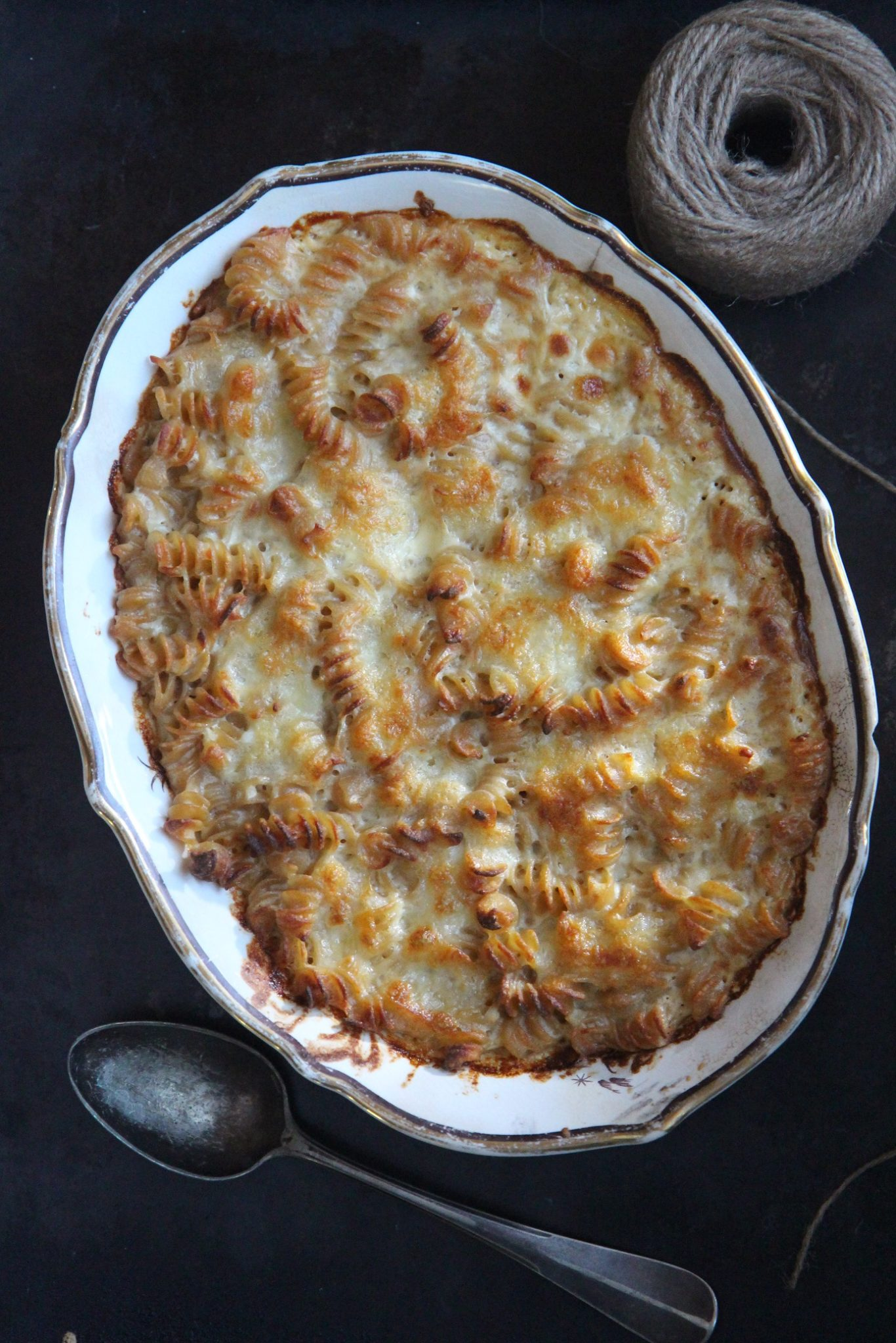 Mac & cheese oluella maustettuna