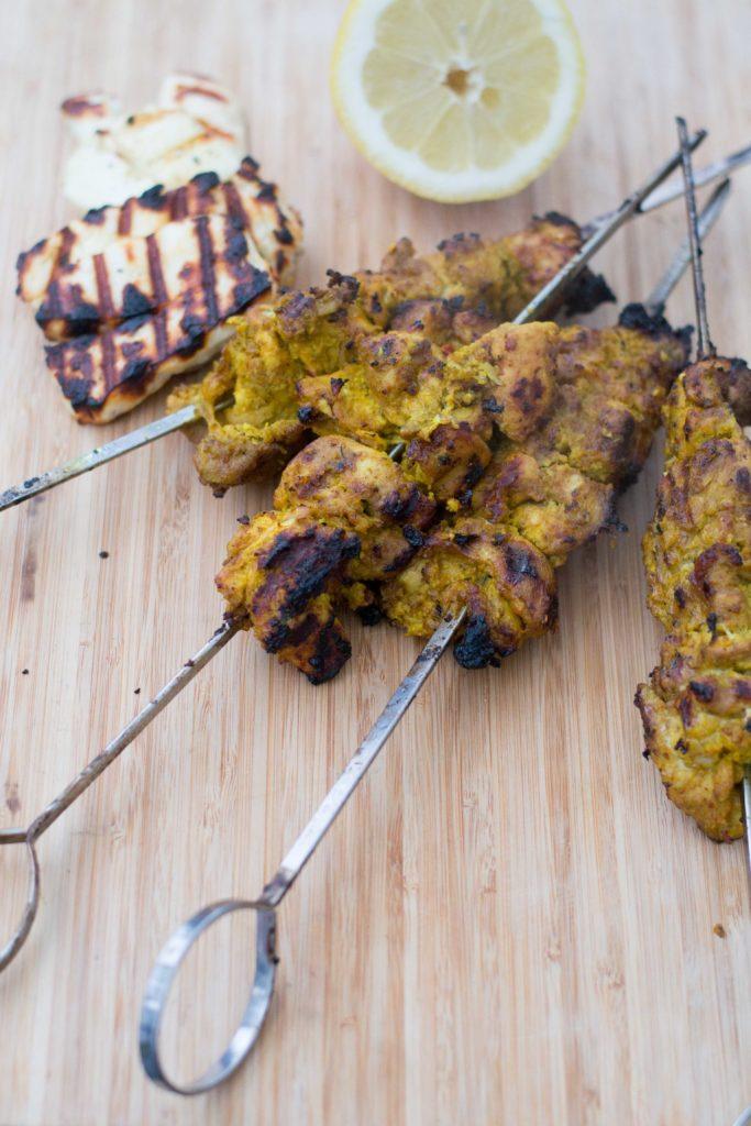 Mausteiset grillatut kanavartaat
