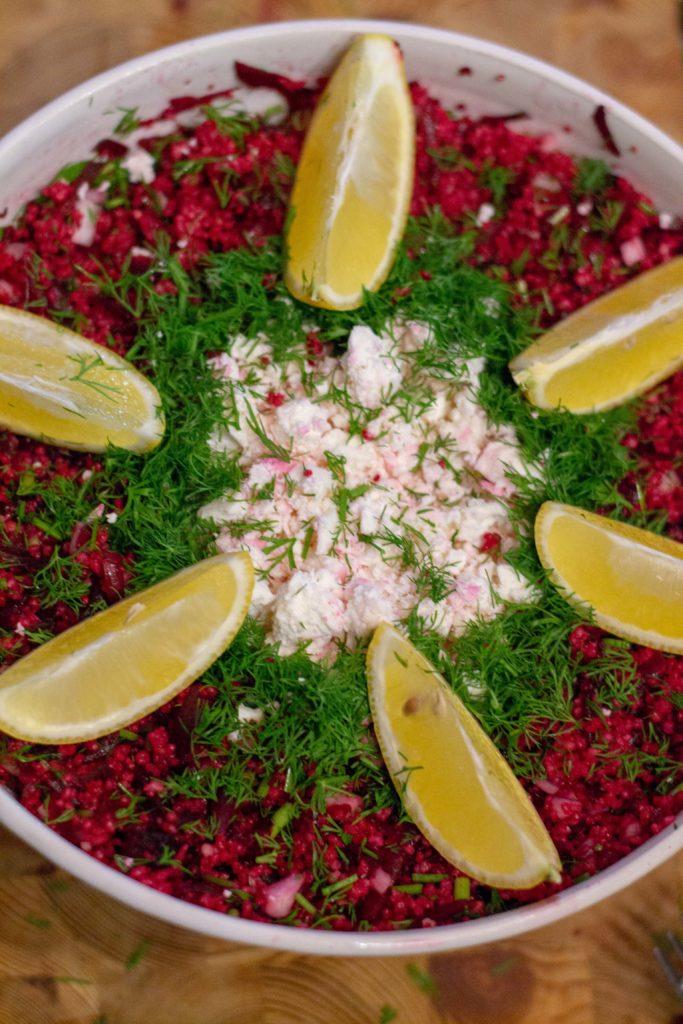 Punajuuri-couscous