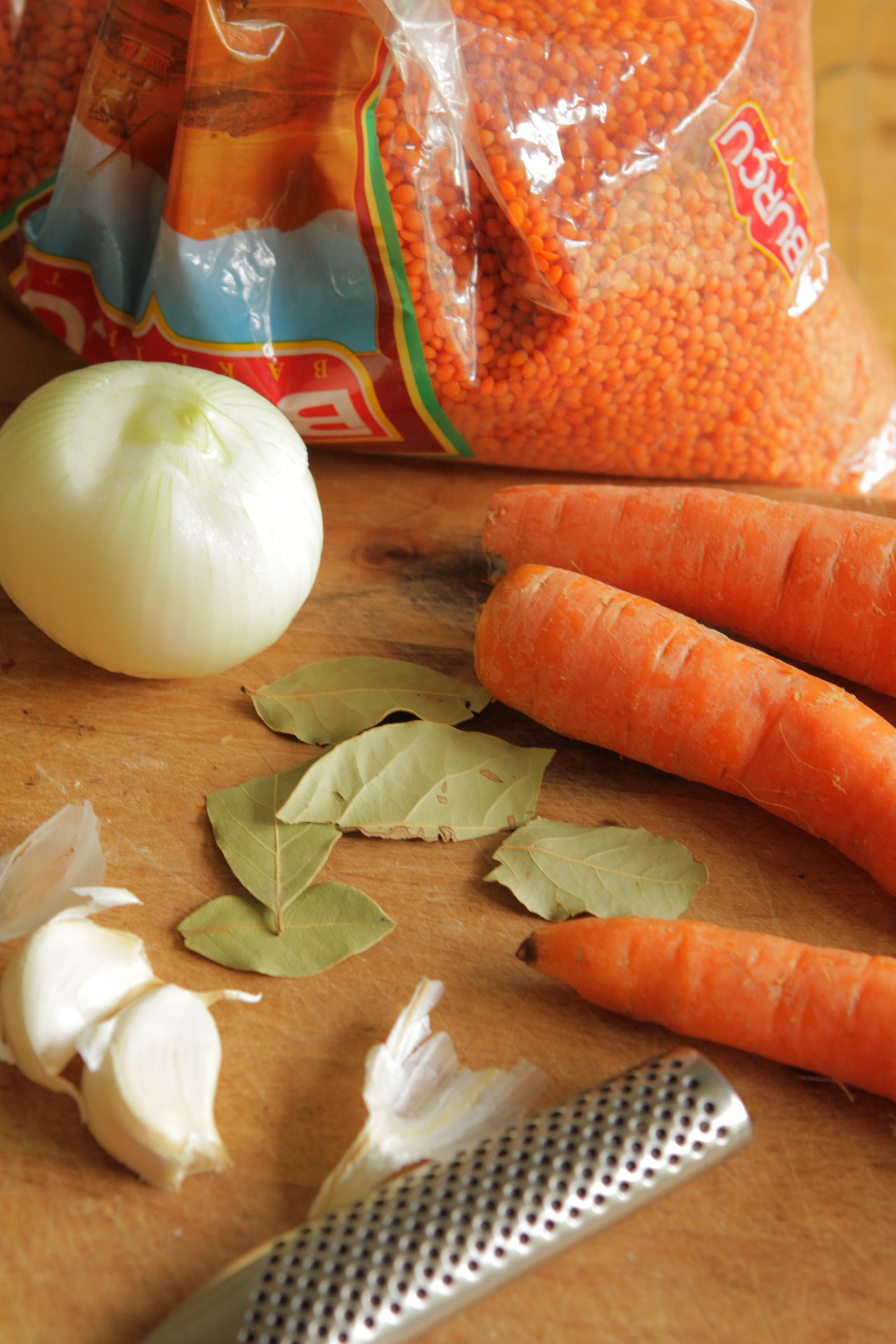 healthy food, terveellinen ruoka, linssikeitto, linssikeittoainekset, halpa ruoka, helppo ruoka