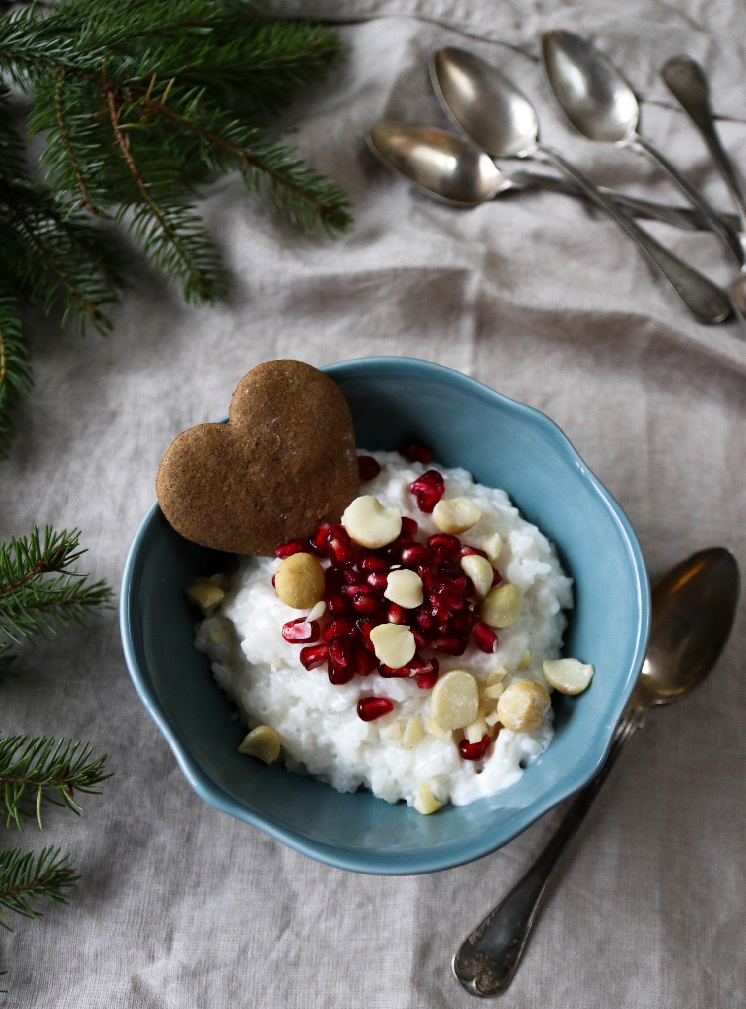 Vegaaninen riisipuuro – Joulukalenteri luukku 10