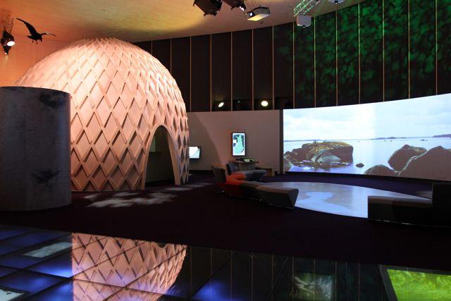 päänäyttelyn videoesitys Suomen luonnosta oli tosi hieno.