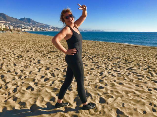 Nastaa!! Treeniä ulkona rannalla!