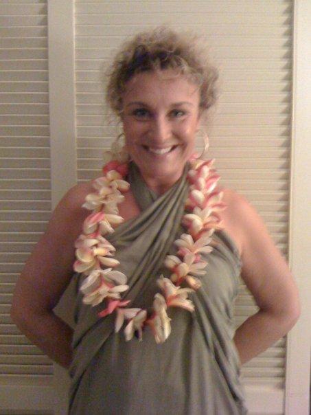 Havaijilla jouluaattona ja tietysti kaulassa on orkideoista punottu lei