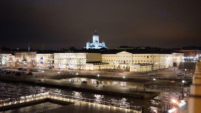 Uuden vuoden yö Helsingin keskustassa oli kaunis