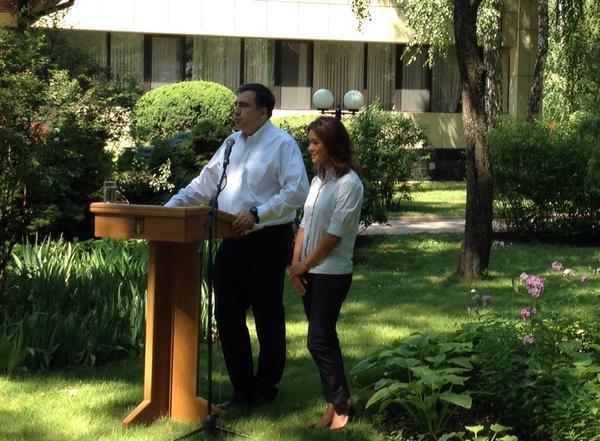 Odessa kuvernööri Mihail Saakashvili ilmoitti Maria Gaidarin nimittämisestä avustajakseen @leonidragozin