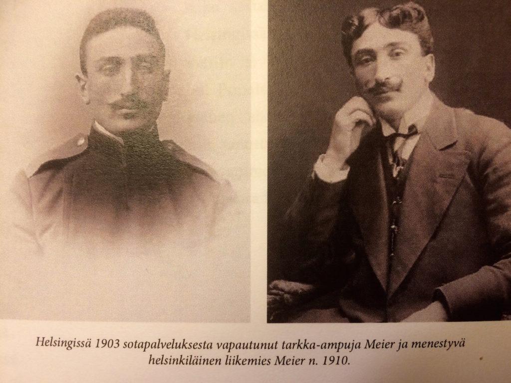 Valokuvia Viimeinen juna Moskovaan -kirjan sivulta.