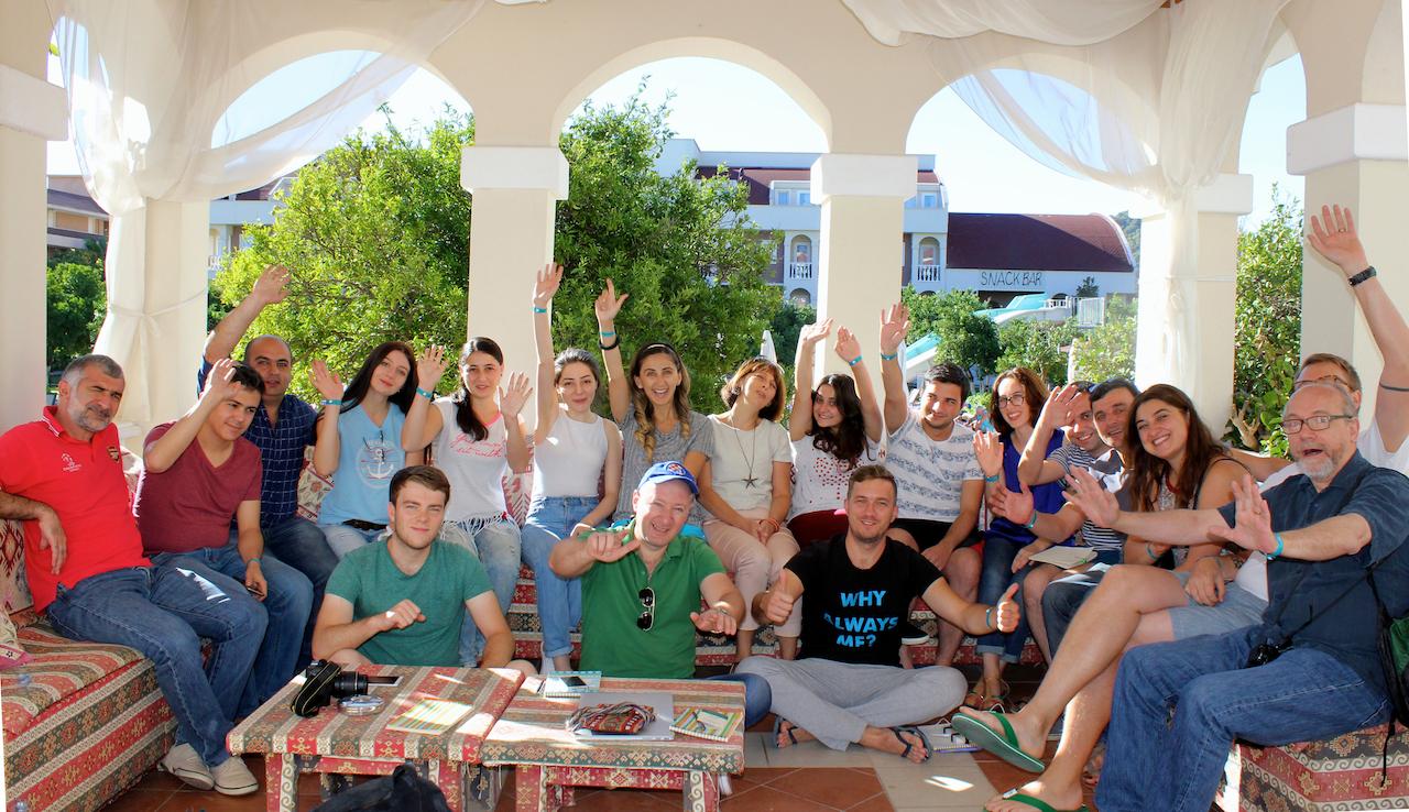 Ulkoministeriön ja Vikesin tukema CAC 2016 -kurssi koolla Turkin Antalayassa Kemerin kylässä.