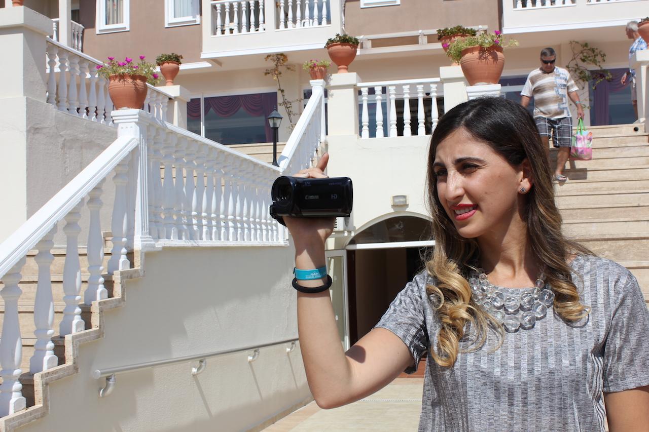 Tv-juontaja Natia Tavdgiridze kuvaajana