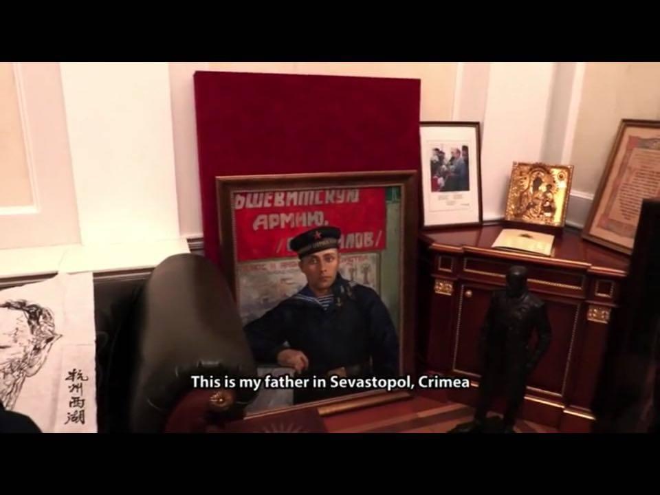 Maalaus isästä Sevastopolissa, Krimillä.