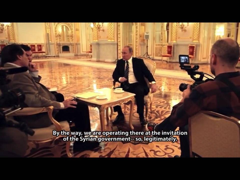 Muuten, meidät on kutsunut Syyyrian valtio - operoimme laillisesti.