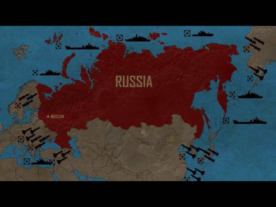 Venäjän asemaa kansainvälisessä ympäristössä yksinkertaistetaan samaa tyyliä olevilla kartoilla.