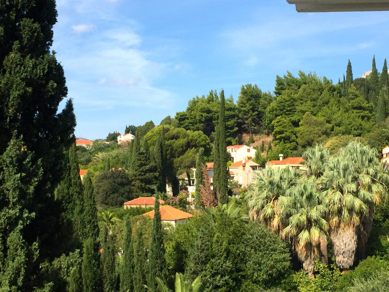 kroatia hotellin parvekkeelta