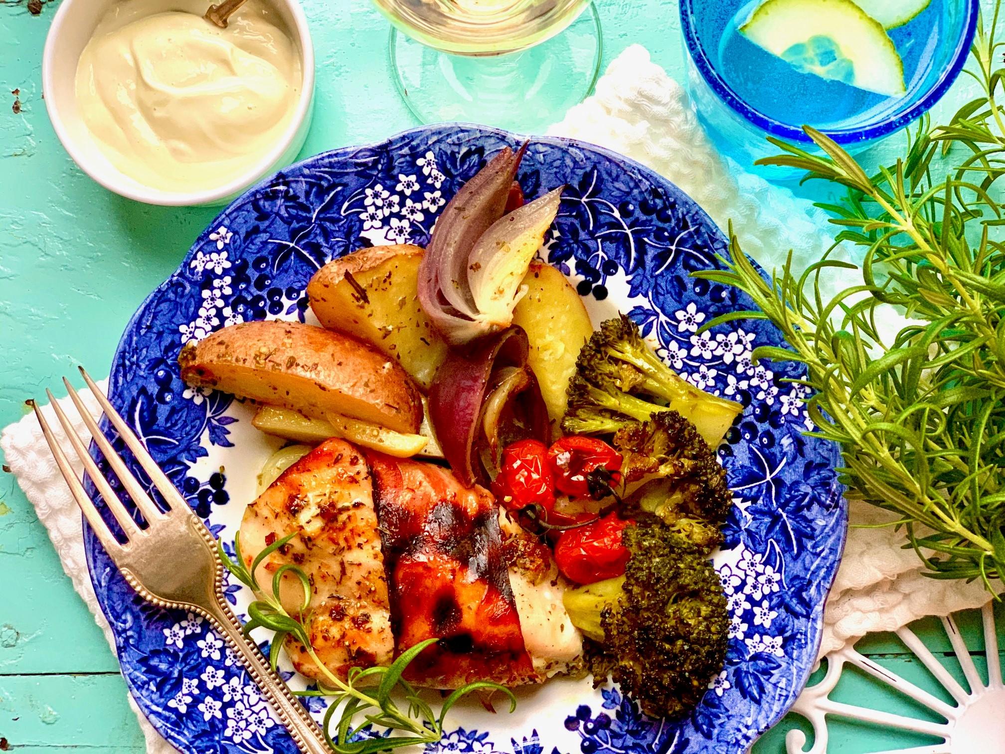 terveellinen ruokavalio lautanen