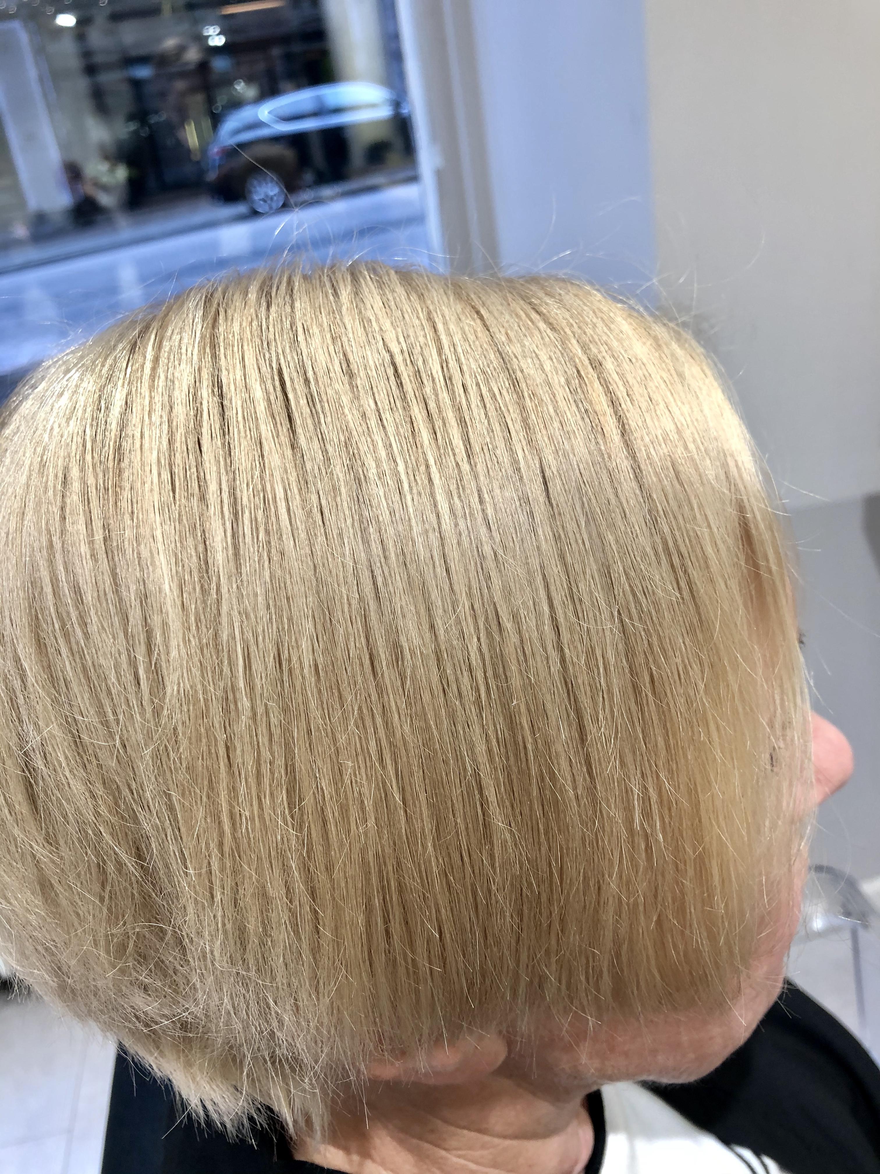 Hiukset ennen hoitoa