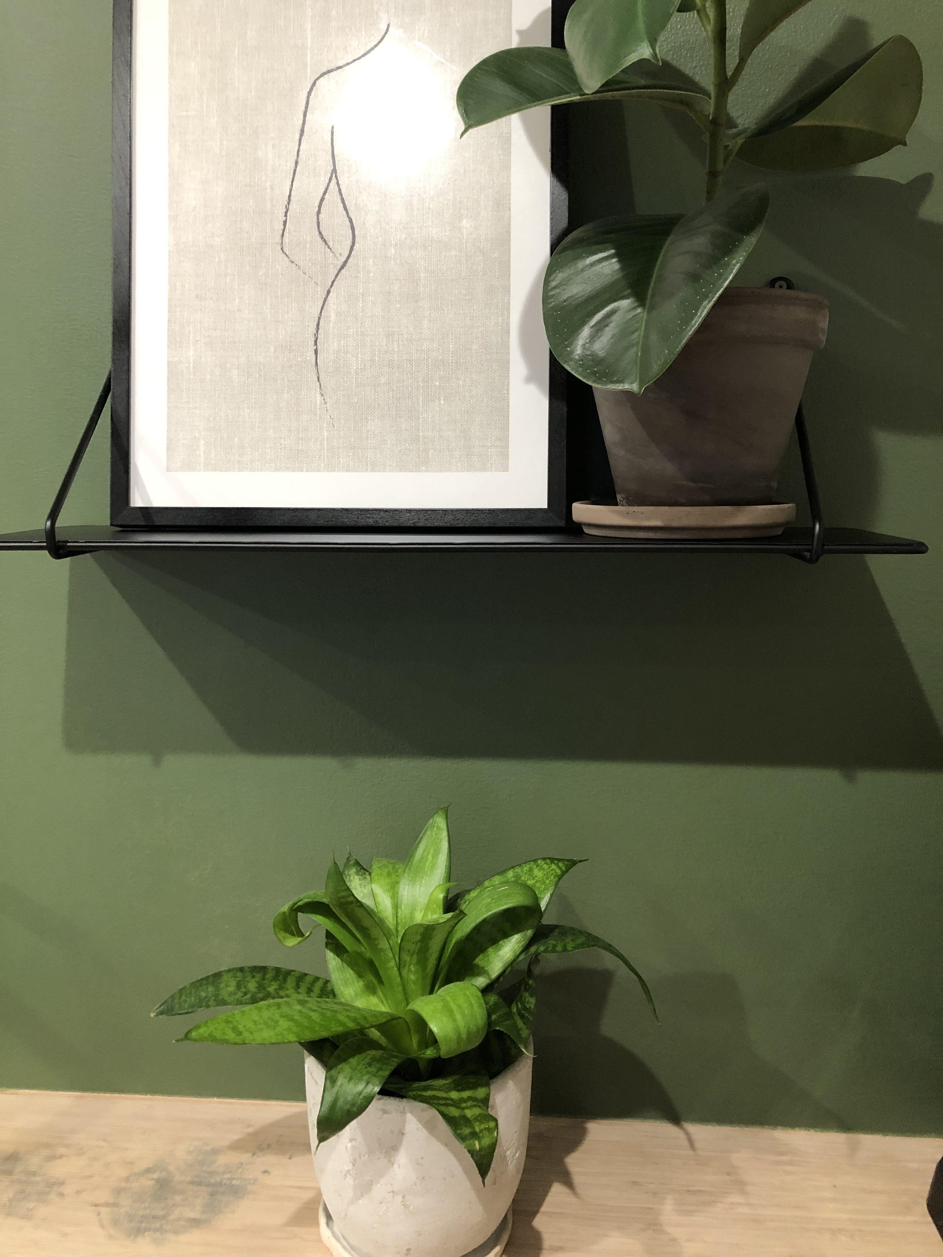 sisustustrendit vihreä seinä