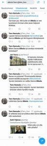 Kaikki löydettävissä olevat Tero Hannulan twiitit aiheesta 'Sanna Ukkola'