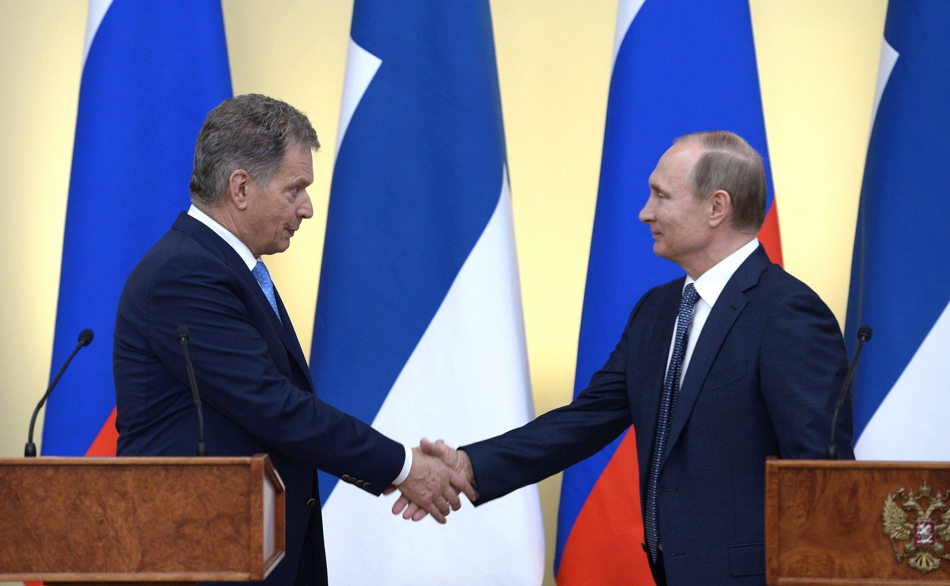 Finlands president Sauli Niinistö och Rysslands president Vladimir Putin