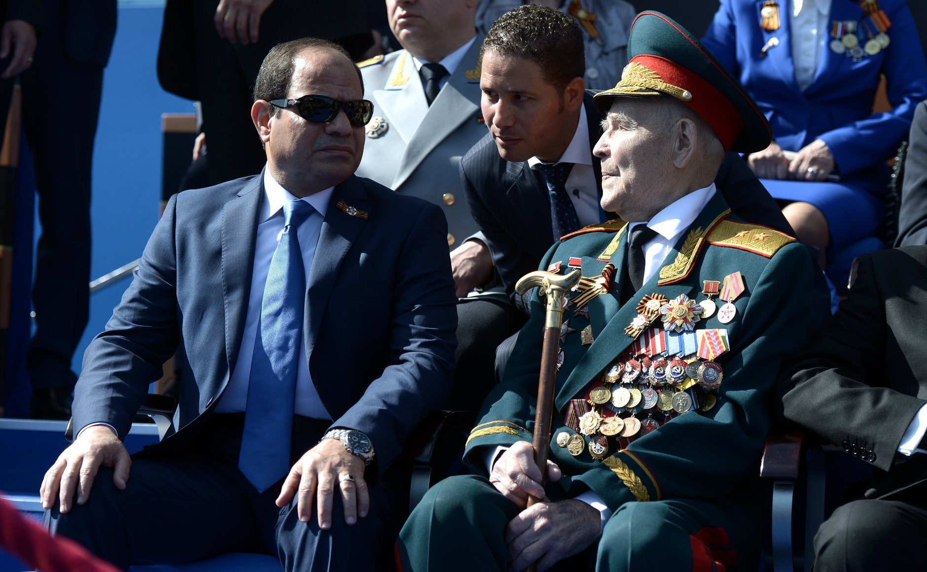 President of Egypt Abdel Fattah el-Sisi (left) at the military parade to mark the 70th anniversary of Victory in the 1941–1945 Great Patriotic War. Photo: kremlin.ru