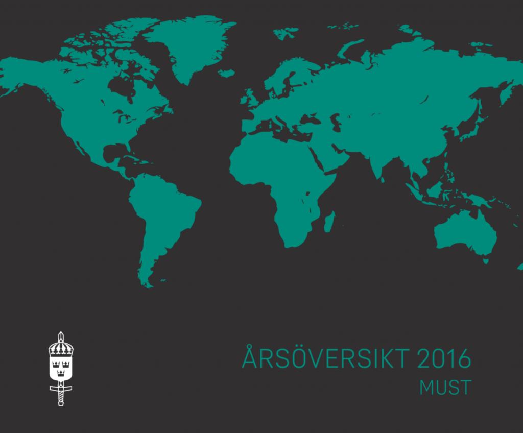 Ruotsin sotilastiedustelukeskusken MUST:in vuosikatsaus vuodelta 2016