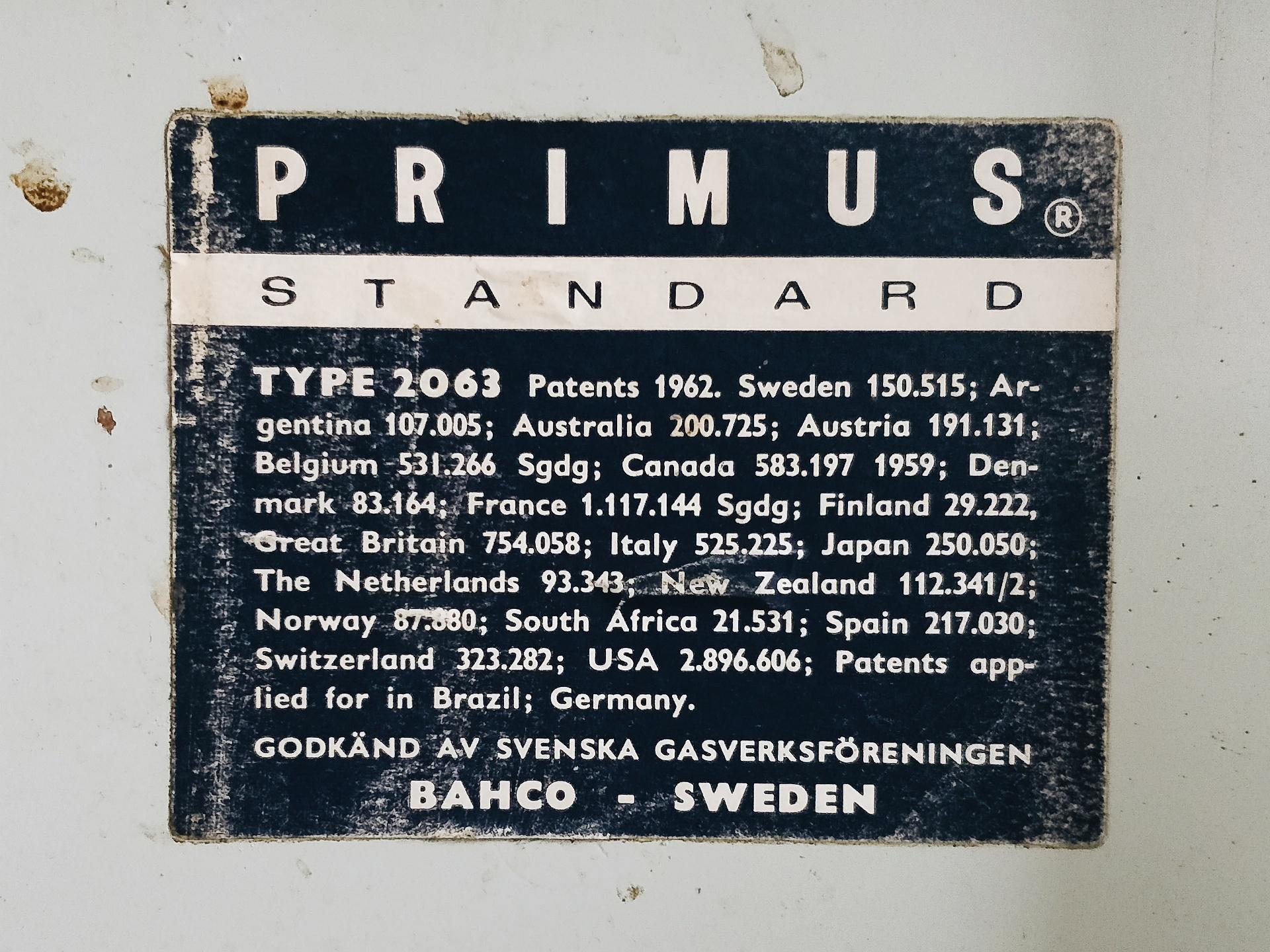 Primus Type 2063/3