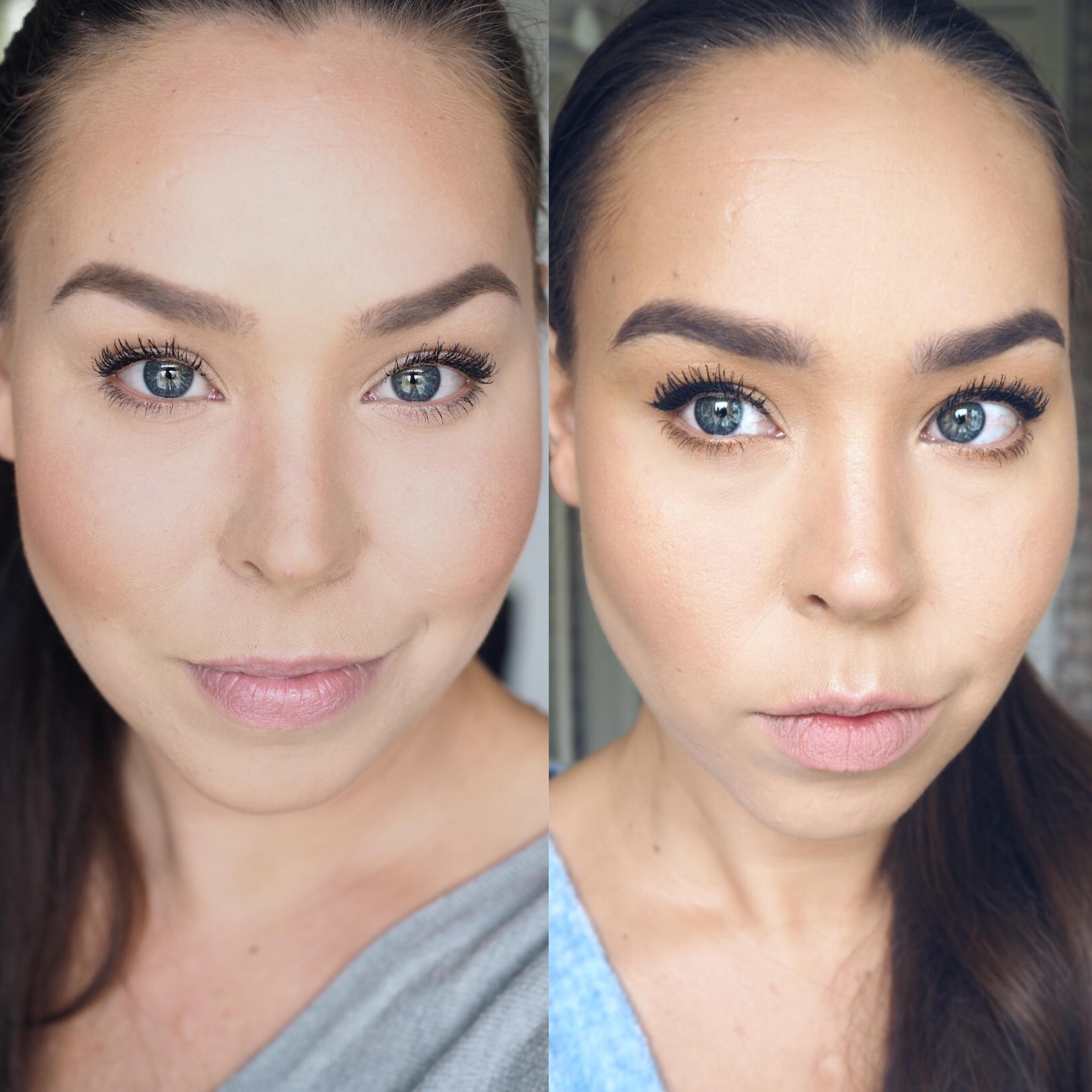 kasvot ennen ja jälkeen