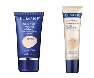 Lumene Double Stay ja Luminous Touch -meikkivoiteet