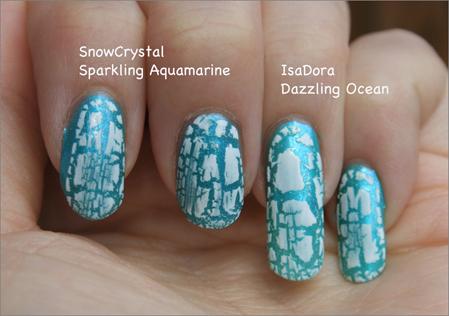 Lukijatoive: Dazzling Ocean + White Cracked Effect -lakkaus