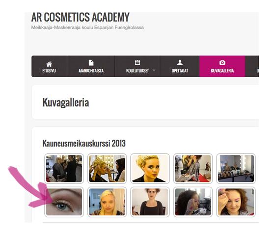 Erikoista mainontaa meikkikoululla