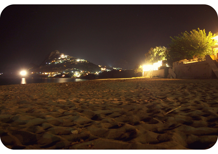 Beach And Aubergine At Night