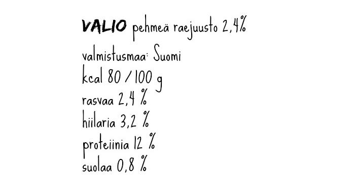 Raejuusto_ravintoarvot_Valiopehmea
