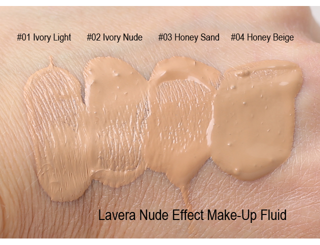 Lavera Nude Effect swatches