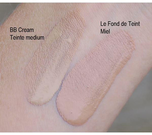 Avril BB Cream and foundation swatch