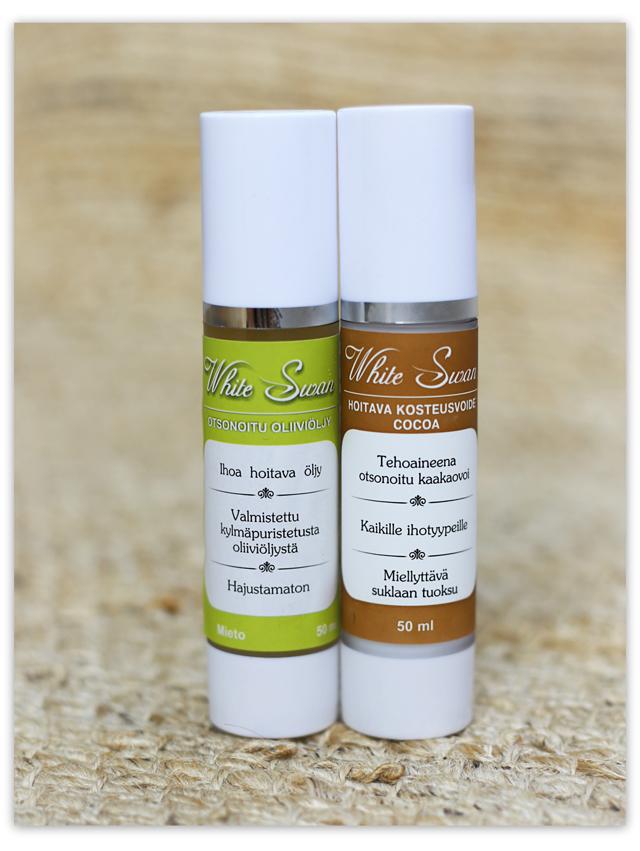 Otsonoitu oliiviöljy ja kaakaovoi