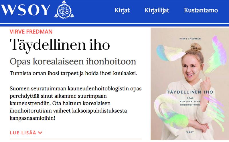 Katja vs Virve – kaksi bloggaajaa julkaisee kirjan korealaisesta ihonhoidosta